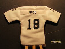 2005 UD Mini Jersey Collection Replica Jerseys White #RM Randy Moss