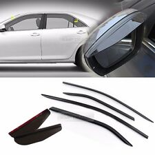 Smoke Window Vent Visor + Side Mirror Rain Guard 6P For TOYOTA 2012-2014 Camry