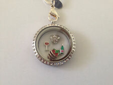 Celebrate Love Wine & Chocolate Floating Charms for Origami Owl Locket