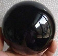 Very nice NATURAL OBSIDIAN POLISHED CRYSTAL SPHERE BALL +stand 60mm