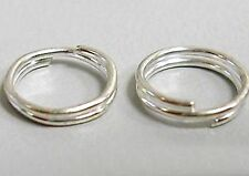 Double Jump Rings, Split Rings, Bright Silver, 10mm, 100 Pieces, Nickel Free