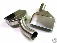 "70 71 72 73 74 PLYMOUTH CUDA STAINLESS EXHAUST TIPS 2"" OD Inlet 1970 1971 1972"