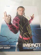 tna impact wrestling 2011 jeff hardy signed tna wrestling promo photo wcw wwe