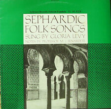 SEPHARDIC FOLK SONGS-SUNG BY GLORIA LEVY WITH MANDOLIN, DRUM, AND GUITARS LP