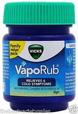 Vicks Vaporub Ointment 50gm Vaporizing blocked Nose cough Nasal headache Relief