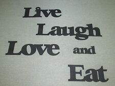 Large Wood  Wall Words LIVE LAUGH LOVE and EAT Art Sign Wall Decor