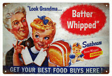 Old Vintage Looking Sunbeam Bread Advertisement Reproduction Metal Sign