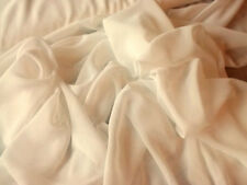 """Off White100% Polyester Chiffon Fabric 58"""" Wide Sold By The Yard"""