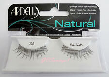 NIB~ Ardell Natural Lashes #128 False Fake Eyelashes Black Lash Eyelash Fashion
