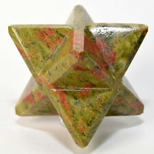 67mm 8 Point Unakite Merkaba Star Natural Epidote w/ Orthoclase Mineral - China