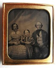 AMBROTYPE PHOTO COUPLE ET ENFANT FILLE FAMILLE PHOTOGRAPHIE ANCIENNE O786