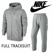 New Nike Men's UK Size Small Zip Tracksuit Grey Hoodie Sweatpants Yeezy Jordan