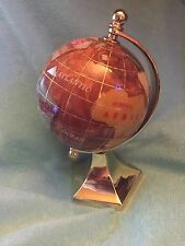 """6"""" Tall Gemstone Globe / use as a paperweight too NEW IN ORIGINAL BOX"""