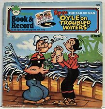 VINTAGE 1976 POPEYE THE SAILOR MAN ''OYLE ON TROUBLED WATERS'' 45 RPM BOOK