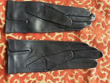 pair of soft leather kid gloves from the 1950s or 60s ( blue )