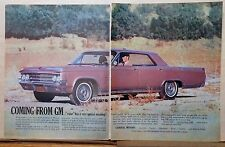 1963 two page magazine ad for Oldsmobile - Ninety-Eight Holiday Sport Sedan