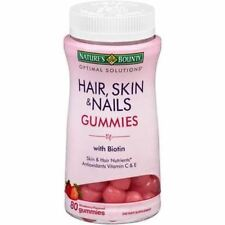 Nature's Bounty Optimal Solution Hair Skin Nail Gummies with Biotin 80ct