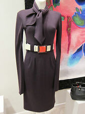 CHANEL Wollkleid lila 07A Lackgürtel Gr 36 Chanel wool dress bright belt sz 12
