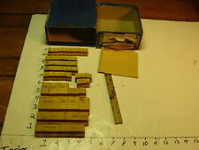 VINTAGE Box of Rubber Stamps: dick tracy, daddy warbucks, annie, boss bailey etc