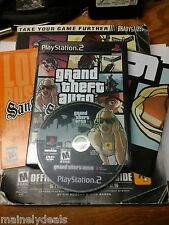 Grand Theft Auto San Andreas PS2 With Strategy Guide Complete Good Black Label