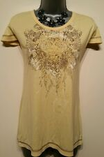 Size 8 Top BNWT Yellow Fitted Style Summer Holiday Beach Women's Tee