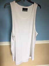 Fear Of God Like White Pacsun Benny Drop Large Tank Top Extended Length FOG