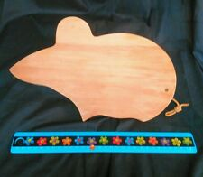 Vintage Wooden Mouse Cutting Board or Cheeseboard