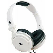 4Gamers Stereo Gaming Headset Dual Format White PS4 & PS Vita Brand New