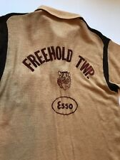Men's Vintage Bowling Shirt New Jersey Freehold Twp. Tigers Knit 1940s Large