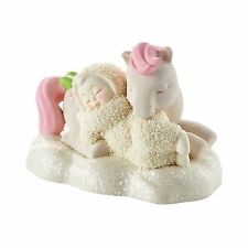 NEW Dept 56 SNOWBABIES Figurine MY LITTLE PONY Snow Baby Statue PINK HORSE SLEEP