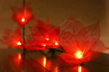 20 RED Star Flower LED 4M String Fairy Lights Lanterns Christmas Decor AUS PLUG