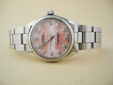 ROLEX Oyster PRECISION MID SIZE ROLEX WATCH PINK MOP DIAL DIAMONDS ROLEX  W/ BOX
