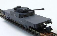 Militär Panzerwagen grau der DR Kampfwagen mit Drehturm für Spur N 1:160