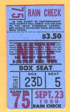 RED SOX CARL YAZ HR #200 TICKET STUB-9/23/69-YANKEES-MUNSON-CONIGLIARO-PEPITONE