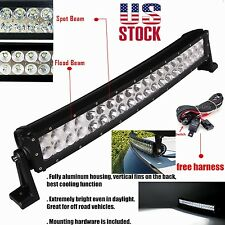 20inch 120w Curved LED Work Light Bar for Truck SUV 4WD UTE Driving ATV Lamp 24""