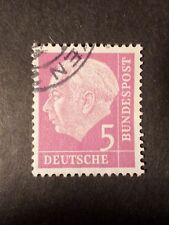 ALLEMAGNE FEDERALE GERMANY 1953, timbre 64 oblitéré, PRESIDENT HEUSS, VF STAMP