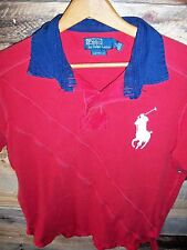 Vintage Polo Ralph Lauren Custom Fit Short Sleeve Rugby Shirt Big Pony Large #3