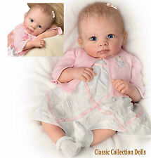 "Ashton Drake ""A MOMENT IN MY ARMS"" - LIFELIKE BABY GIRL DOLL- NEW - IN STOCK NOW"