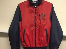 Vintage Adidas Nylon Red/Navy Blue Track Jacket-90'sMade in Taiwan Sz XS