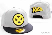 AWESOME MARVEL'S X-MEN SYMBOL GREY & BLACK SNAPBACK CAP HAT *BRAND NEW*