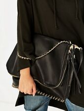 Zara Black Maxi Crossbody Bag New Stitching BNWT Large Handbag