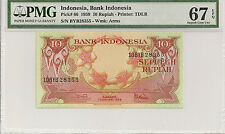 P-66 1959 10 Rupiah, Bank of Indonesia, PMG 67EPQ Finest Known