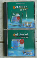 McDougal Littell Middle School MATH,Course 3,NEW CD-Roms Tutorial,eEdition 8/8th