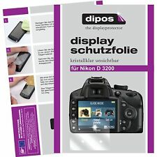 6x dipos Nikon D3200 Schutzfolie klar Displayschutzfolie Folie Clear kratzfest