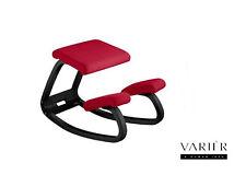 Sedia ergonomica VARIER VARIABLE BALANCE legno laccato Nero seduta col. Rosso