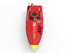 US Stock Fasr Free Volantex RC Racing Boat Vector 80 High Speed PNP Model Red