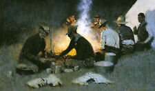 Remington Oil Painting repro The Hunters' Supper