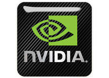 "nVidia Logo 1""x1"" Chrome Domed Case Badge / Sticker Logo"