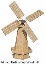 Amish-Made Wooden Dutch Windmill Yard Decoration - Available in 21 Finishes!