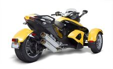 Two Brothers Titanium Dual Slip-On Exhaust For 2008-2012 Can-Am Spyder RS/S